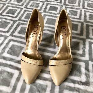 Beautiful gold and tan heels from BCBG